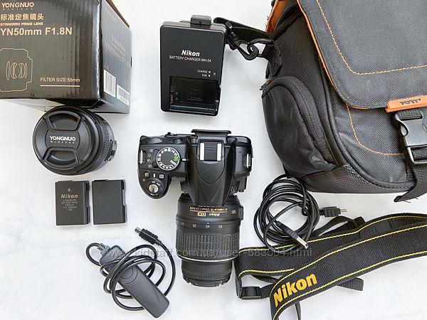 Продам камеру Nikon D3100 с 2мя объективами