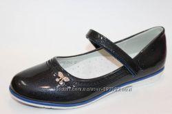 Туфли школьные для девочки Том. м синие лаковые