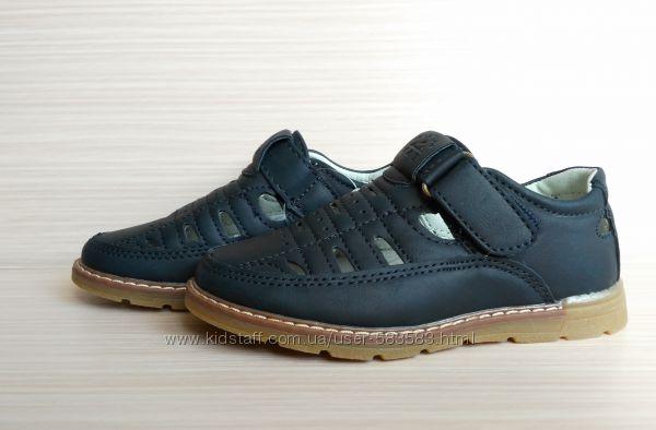 Туфли-мокасины с перфорацией для мальчика 27 - 17. 5 см