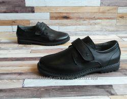 Туфли кожаные школьные на мальчика