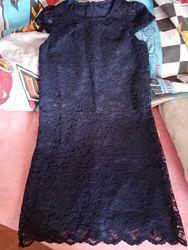 Платье гипюр школьное нарядное  Lilax