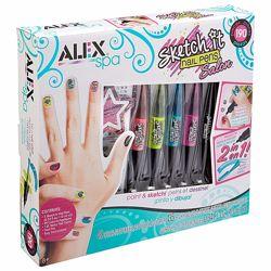 Набор для художественного маникюра ручки детские лаки ALEX Spa Nail Pens