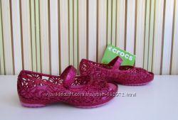 Босоножки балетки Crocs Isabella glitter flat