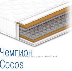 Двухсторонний ортопедический матрас с кокосовой койрой Чемпион Cocos
