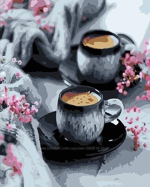Картины по номерам Чай Кофе