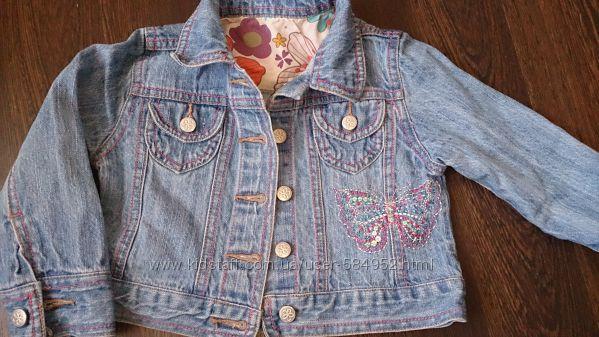 джинсовая курточка на девочку Mothercare 2-3 года