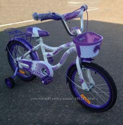 Детский велосипед для девочки Azimut Kiddy 16 3 цвета