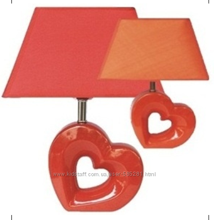 Настольная керамическая лампа Сердце