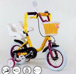 Детский велосипед с корзинкой Corso бьюти 16 разные