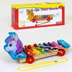деревянный ксилофон-каталка и ксилофон разные