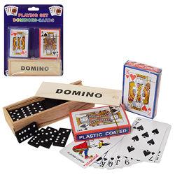Набор настольных игр домино и игральные карты 2 в 1 A140