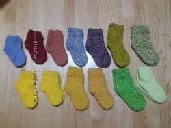 Теплые носочки ручной вязки