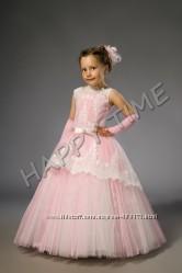 Дитяче нарядне плаття ніжно-рожевого кольору