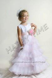Дитяче нарядне пишне плаття троянда