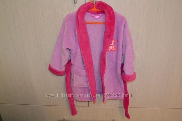Махровый халат на девочку 2 года
