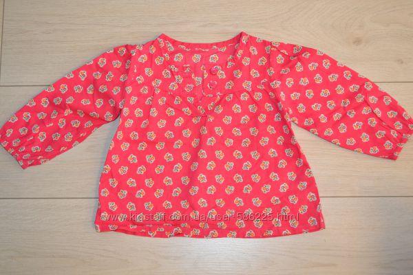 Легкая рубашка mothercare на девочку 12-18 мес, 86 см