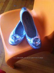 Новые красивые фирменные кожаные балетки