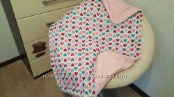 Плед детский, конверт, одеяло на выписку с роддома, в кроватку, в коляску