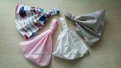 Бандана, повязка, косынка, панамка для девочки, 100  хлопок