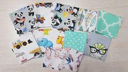 Носовые платочки для девочек и мальчиков, детские носовые платочки, хлопок