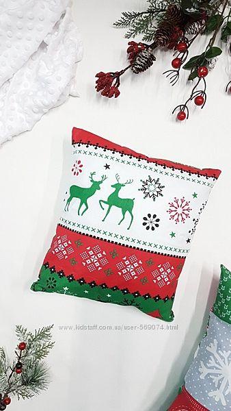 Подушка новогодняя декоративная. Яркие и красивые расцветки. Хороший подаро