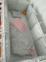 Бортики-подушки, подушкибортики, защита в кроватку. Много расцветок.