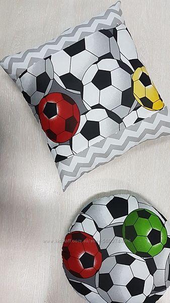 Подушка детская футбольный мяч, подушка-футбольный мяч мальчику.
