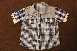Рубашка 104-116р. в идеальном состоянии