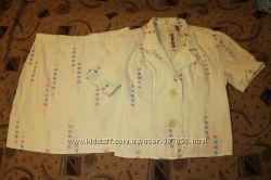 Костюм летний женский юбка и пиджак 48-50р.