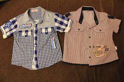 Рубашки летние на мальчика 3-5 лет 98-110 см рост в идеальном состяни.