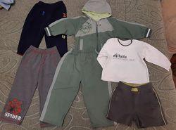 Пакет вещей 86-92-98 на мальчика спорт костюм, штаны, шорты