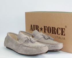 Мужские мокасины Air Force Italia оригинал натуральная замша 40-45р