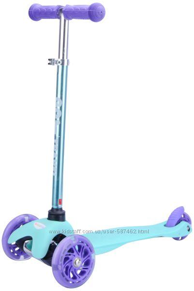Самокат GO Travel mini цвет аква светящиеся колеса SKBP304