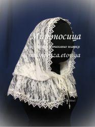 Венчальный платок, цвет молочный айвори