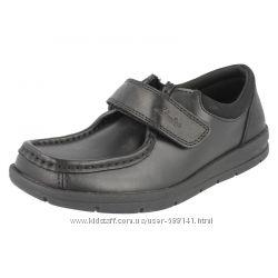 Clarks School Rock черные школьные кожаные туфли размер 33, 33. 5