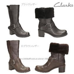 Clarks Plico Place зимние  сапоги раз. 36. 5, 37, 37. 5, 38, 39, 41, 41. 5,