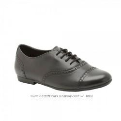Clarks Erica Lace школьные кожаные туфли