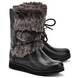 Clarks Minx Jeanie  зимние кожаные сапожки