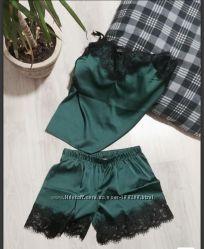 Шелковая пижама, комплект для дома и сна