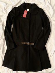 Пальто черное шерсть 36 размер kappahl