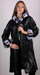 Куртка кожаная двусторонняя с натуральным мехом Рекс. Все размеры.