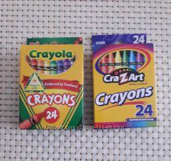 Восковые мелки карандаши CraZArt , Crayons 24 шт. Не токсичны