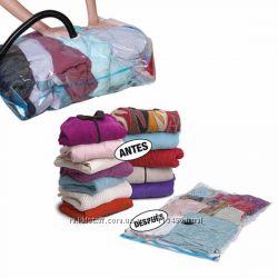 Вакуумный мешок пакет для вещей одежды. 50&times60, 60&times80, 70&times100 см