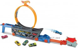 Хот Вилс Трек трансформер Трюки и Гонки Hot Wheels Stunt Go Track Set GCK38