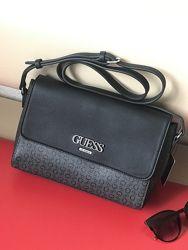 Сумка женская Guess оригинал Women&acutes Muze Logo Crossbody чёрная Гесс