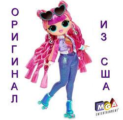 Кукла ЛОЛ ОМГ Диско-скейтер 3 Серия LOL Surprise OMG Fashion Roller Chick