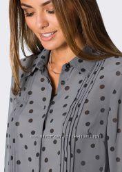 Сіра довга блуза в горох. Нова. М-ка.