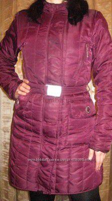 Демисезонное пальто  46 разм. бу