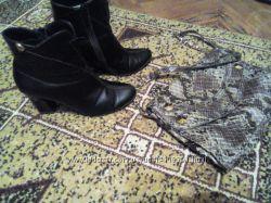 Демисезонные кожаные ботинки р. 40