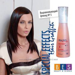 Блеск и крем для выпрямления волос BES